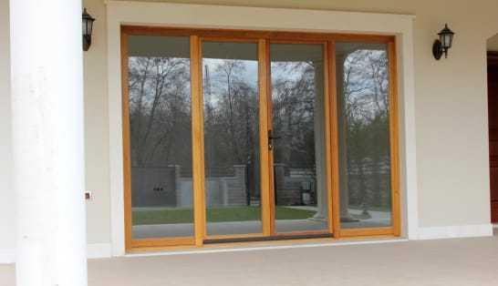 full glass doors
