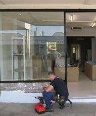 shop front glass renovation