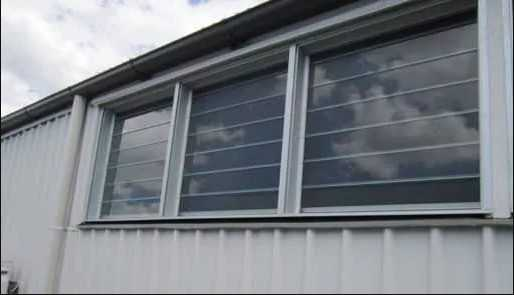 after replacing glass louvres