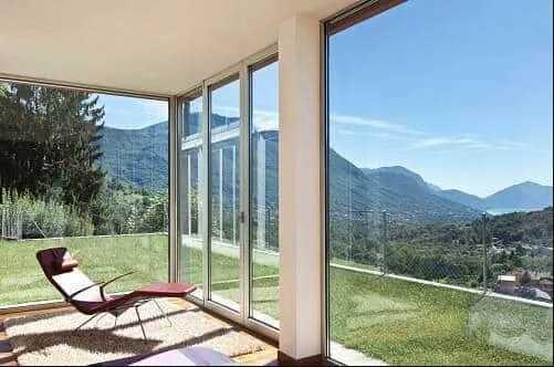 glass walls windows