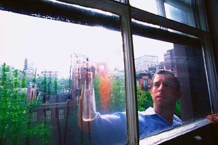 cleaning glass window