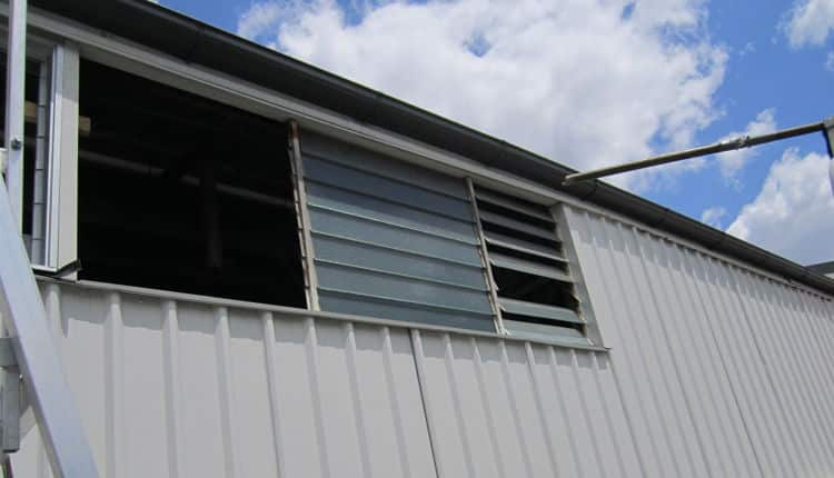 replacing old glass louvres