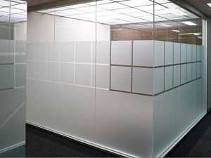 internal glass office partition